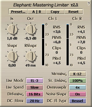 Voxengo Elephant VST 2.5 Screenshot