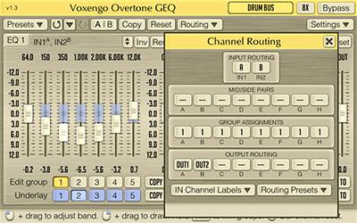 Voxengo Overtone GEQ 1.3 Screenshot