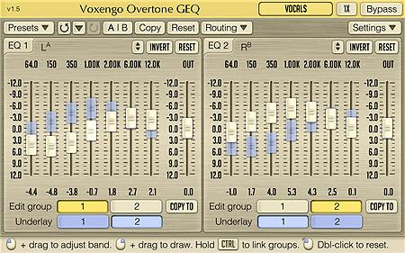 Voxengo Overtone GEQ 1.5 Screenshot