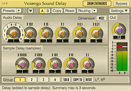 Voxengo Sound Delay 1.2 Screenshot