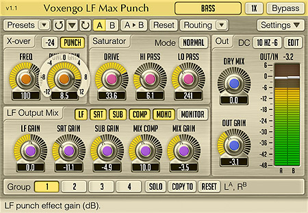 Voxengo LF Max Punch 1.1 Screenshot