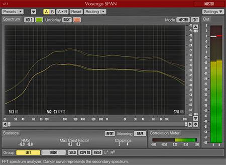 Voxengo SPAN 2.1 Screenshot