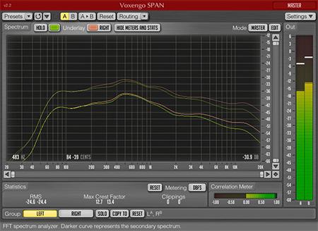 Voxengo SPAN 2.2 Screenshot