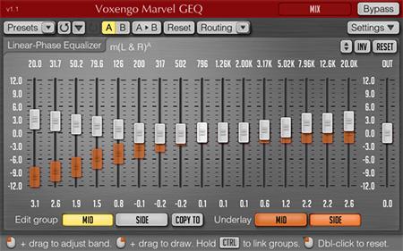 Voxengo Marvel GEQ 1.1 Screenshot