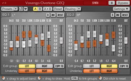 Voxengo Overtone GEQ 1.9 Screenshot