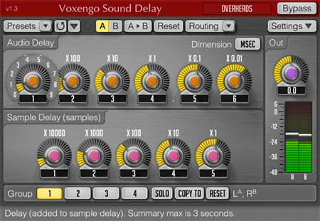 Voxengo Sound Delay 1.3 Screenshot