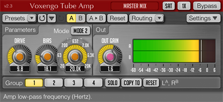 Voxengo Tube Amp 2.3 Screenshot