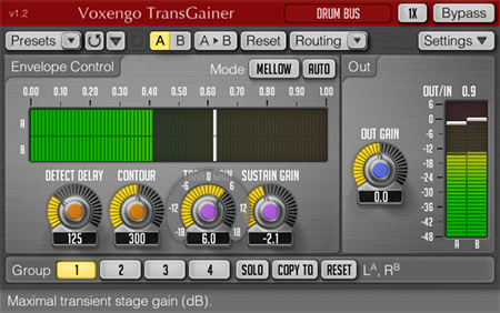Voxengo TransGainer 1.2 Screenshot