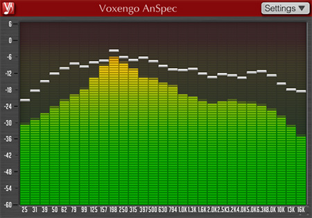 Voxengo AnSpec 1.0 Screenshot
