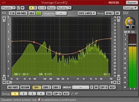 Voxengo CurveEQ 3.0 Screenshot