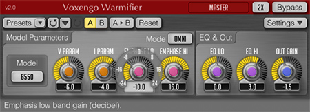 Voxengo Warmifier 2.0 Screenshot