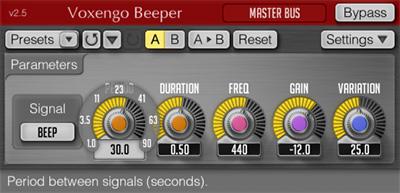 Voxengo Beeper 2.5 Screenshot