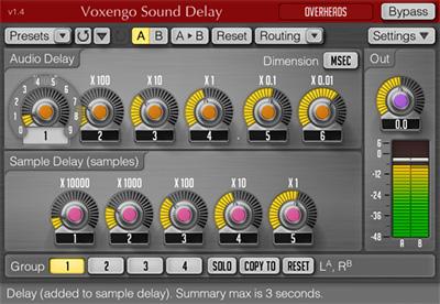 Voxengo Sound Delay 1.4 Screenshot