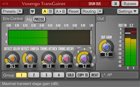 Voxengo TransGainer 1.4 Screenshot