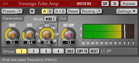 Voxengo Tube Amp 2.4 Screenshot