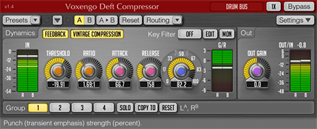 Voxengo Deft Compressor 1.4 Screenshot