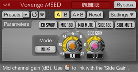 Voxengo MSED 2.5 Screenshot