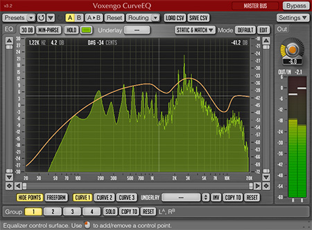 Voxengo CurveEQ 3.2 Screenshot