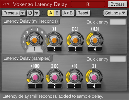 Voxengo Latency Delay 2.3 Screenshot