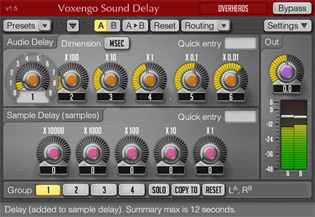Voxengo Sound Delay 1.5 Screenshot