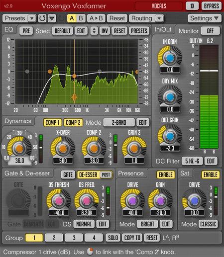 Voxengo Voxformer 2.9 Screenshot