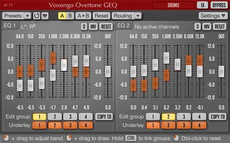 Voxengo Overtone GEQ 1.11 Screenshot