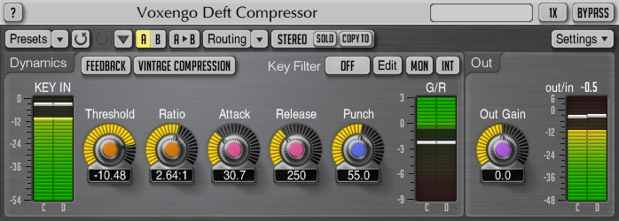 Voxengo Deft Compressor 1.6 Screenshot