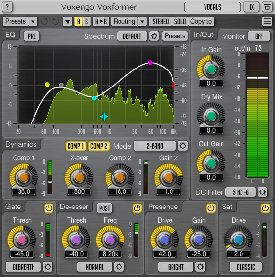 Voxengo Voxformer 2.11 Screenshot