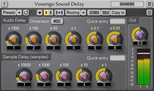 Voxengo Sound Delay 1.7 Screenshot