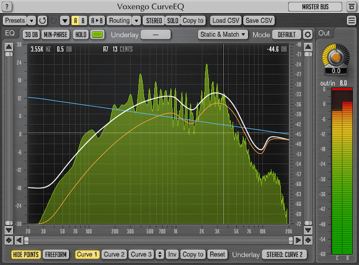 Voxengo CurveEQ 3.6 Screenshot