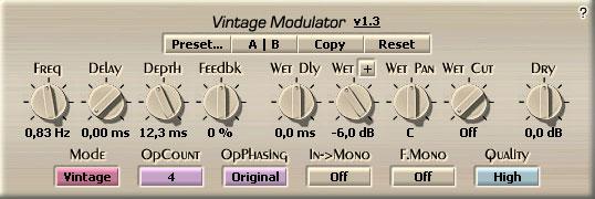 Voxengo Vintage Modulator VST 1.3 Screenshot