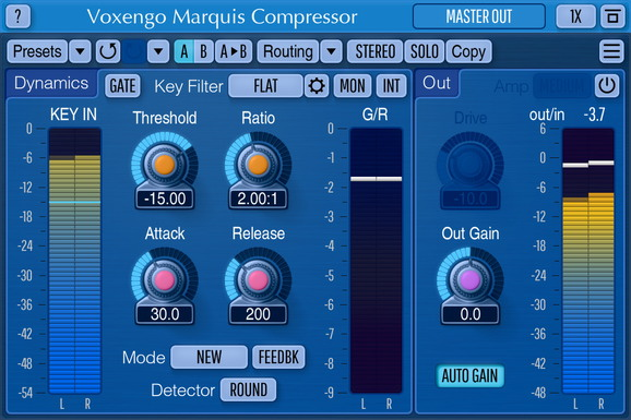 Voxengo Marquis Compressor Screenshot