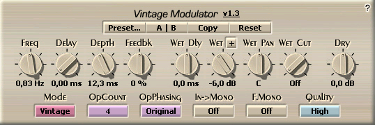 Voxengo Vintage Modulator Screenshot