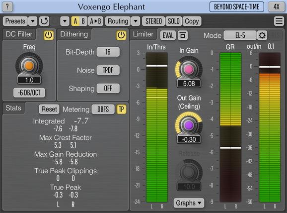 Voxengo Elephant for Mac OS X full screenshot