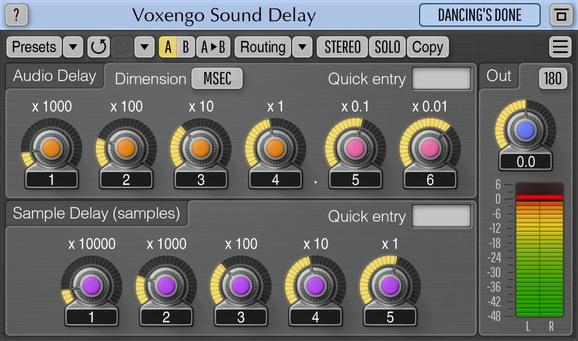 Voxengo Sound Delay Screenshot