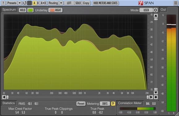 Voxengo SPAN Screenshot