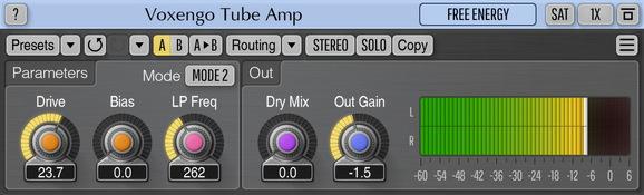 Voxengo Tube Amp Screenshot