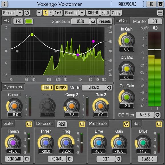 Voxengo Voxformer Screenshot