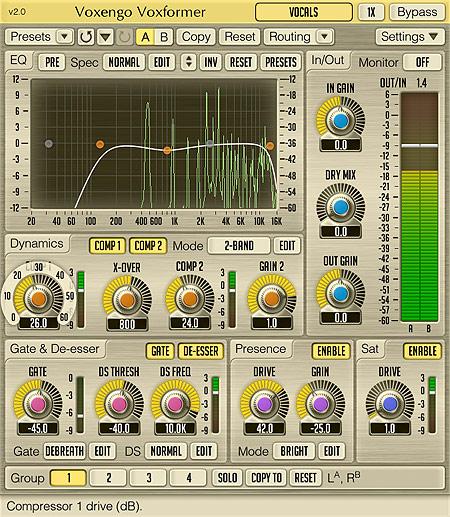 Voxengo Voxformer 2.0 Screenshot