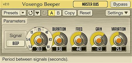 Voxengo Beeper 2.0 Screenshot
