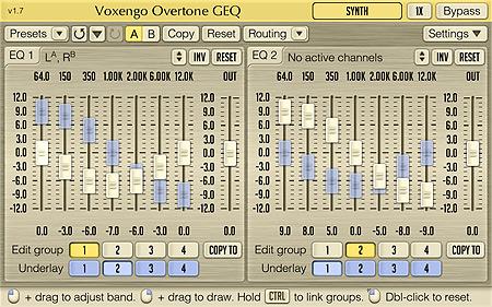 Voxengo Overtone GEQ 1.7 Screenshot