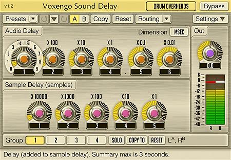 Voxengo Sound Delay 1.2 Screenshot