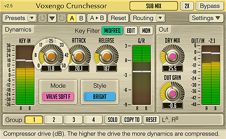 Voxengo Crunchessor 2.5 Screenshot