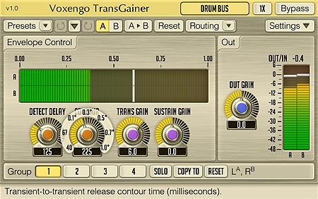 Voxengo TransGainer 1.0 Screenshot
