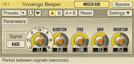 Voxengo Beeper 2.1 Screenshot