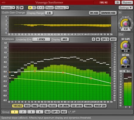 Voxengo Soniformer 3.0 Screenshot