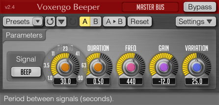 Voxengo Beeper 2.4 Screenshot