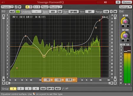 Voxengo HarmoniEQ 2.1 Screenshot