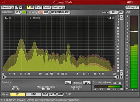 Voxengo SPAN 2.3 Screenshot