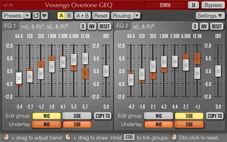 Voxengo Overtone GEQ 1.10 Screenshot
